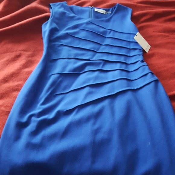 8b2ec338 Calvin Klein Dresses | Nwt Sunburst Royal Blue Sheath Dress | Poshmark